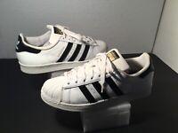 Men's Adidas Superstar Athletic Shoes Sz 8M White Leather  ART C77124