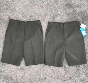 Debenhams Boys School Shorts. Age 9, Grey. 2x Pairs, BNWT