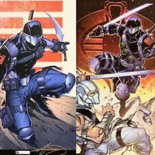 Adelso Corona signed G.I. JOE comic art litho lot (2) Snake Eyes Storm Shadow