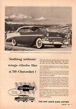 1956 Chevrolet Bel Air Sport Sedan Pikes Peak Road  Vintage Print Ad