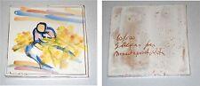 Piastrella d'artista SANDRO NEGRI Mimosa Numerata Ceramica Tile