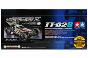 Tamiya 47454 1/10 RC Buggy TT-02B Plasma Edge II Iridescent Purple/Green Limited