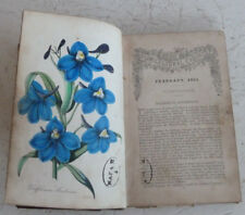 Vintage Book The Floricultural Cabinet 1853 Florist's Magazine Colour Plates
