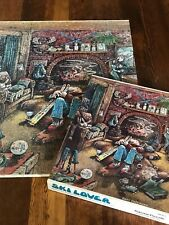 SKI LOVER Jigsaw Puzzle Gary Patterson Cartoon 550+ Pieces Vintage 100% COMPLETE