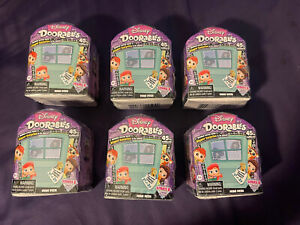 6 New Disney Doorables Series 6 mini peek (2-3 figures per box) Lot Of 6…