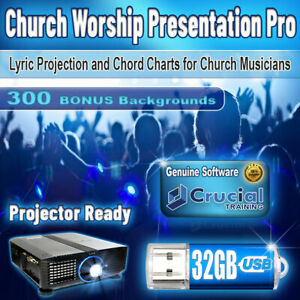Church Worship Presentation Pro, Display Bible Verses and Songs, Projector Ready