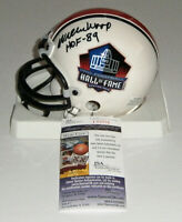 PACKERS Willie Wood signed HOF mini helmet w/ HOF 89 AUTO JSA COA Autographed