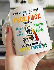 Unicorn With A F*ck F*ck Here And A F*ck F*ck There Coffee Mug Funny Gift Mug