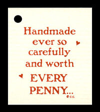 50 *EVERY PENNY*  HANG TAGS CRAFTS WHIMSICAL PRICE HANDMADE SMALL FUN w/MESSAGE