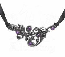 Pegre de les Bois Choker-Alchemy Amethyst/Skull/Underworld Gothic Jewellery P806