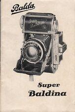 PDF Balda Super Baldina Kleinbildkamera 24x36 mm Bedienungsanleitung Manual