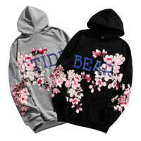 Unisex Men Women Sakura Japanese Pullover Hoodie Jacket Hooded Sweater