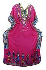 Boho Dashiki African Kaftan Dress Women Beach Cover Up Kimono Caftan Maxi Gown