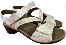 MINT MEPHISTO WOMAN SANDALS BEIGE SNAKE SIZE 35