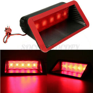 Universal Car Red 5 LED 12V High Mount Rear Third 3rd Warn Brake Stop Tail Light