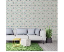 New Coloroll - Duck Egg - Vibration - Geometric Glitter - Luxury Wallpaper M1023