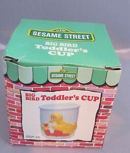 Vintage 1986 Sesame Street Big Bird porcelain Toddler's Cup MIB