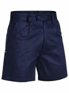 Bisley Workwear Navy Original Cotton Drill Work Short (BSH1007)
