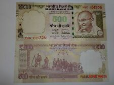 INDIA PAPER MONEY-1  'MG' NOTE-RS. 500/- '2015'-TEL.N0+BRAIL.LINES-INSET E#EACii