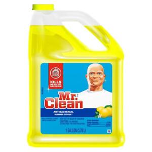 (Case of 8) Mr. Clean 128 oz Antibacterial Cleaner Summer Citrus Scent Gallon
