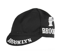 BROOKLYN FULL BLACK RETRO CYCLING TEAM SUMMER MADE IN ITALY SUMMER BIKE HAT CAP