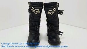Fox Racing Youth Black White Comp 3 Dirt Bike Boots Motocross SIZE 3 L189