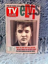 """NOS ELVIS AUGUST 17 - 23, 2002 TV GUIDE 50s 3D PICTURE """"ELVIS FOREVER!"""" (3 OF 3)"""