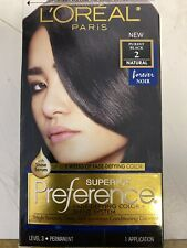 """Loreal Superior Preference Permanent Hair Color #2 PUREST BLACK """"Natural"""""""