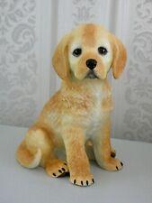 More details for bisque porcelain golden retriever puppy ornament by lennox - perfect condition