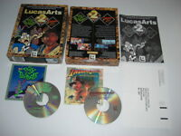 LUCASARTS x2 Double Pack Pc DAY OF THE TENTACLE + INDIANA JONES & FATE ATLANTIS