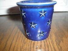 Longaberger Blue with Stars Mini Crock Votive Candle Holder