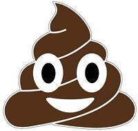 """Poop Emoji Color Die Cut Vinyl Decal Sticker - You Choose Size 2""""-28"""""""