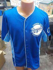 Majestic MLB Kansas City Royals Baseball Button Up Jersey - Size XLarge NWT