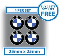 4 x BMW Stickers BMW Logo Decals 25mm Vinyl Car Motorbike Badges Waterproof