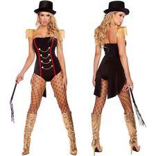 Adult Women Sexy Ringmaster Cosplay Costume Circus Lion Tamer Tuxedo Halloween