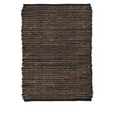 Black Rug Cotton & Jute 90 cm by Ib Laursen