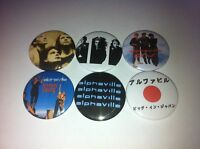 6 Alphaville pin button badges 25mm Big in Japan Forever Young Dance with me 80s