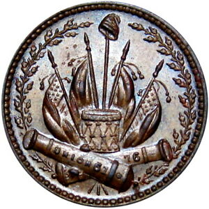 Cannons Flags Drum Our Country Patriotic Civil War Token