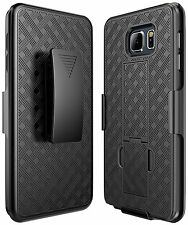 Samsung Galaxy Note 5 Belt Clip Holster Cell Phone Case with Kick Stand Cover