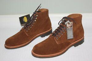 JCrew Mens Kenton Suede Plain-Toe Boots Sz 10.5 Snuff Brown $278 Shoes AV246 NWB