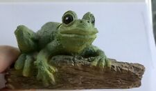 Green  Tree Frog Figure   Stone Critters SC 293 Vintage  1989 USA
