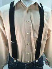 "New, Men's, Black, Large, 42"",  1.5"", Adj.  Suspenders / Braces, Made in the USA"