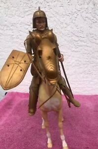 Vintage Marx Toys Knight and Horse Made In The USA