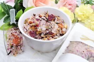 Rose & Tea Tree Foot Soak Bath Tea 5oz Epsom Pink Himalayan Sea Salt 100%Natural
