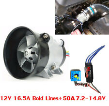 Universal Car Electric Turbo Charger Air Intake Fan HP Boost w/ 50A ESC Switch