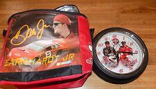 DALE EARNHARDT JR LUNCH BAG AND JR AND SR CLOCK  NASCAR COCACOLA