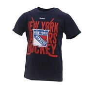 New York Rangers Official NHL Reebok Kids Youth Size Distressed T-Shirt New Tags