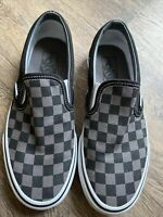 VANS  OG Classic Slip-on LX Woven Leather TRIM Black Grey  Check UK5.5 US 6.5