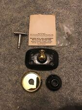 Baldwin Hampton Toothbrush/Tumbler Holder Polished Brass & Black Ceramic3117-030