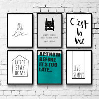 Cartoon Motivational Quote Nursery Canvas Art Poster Prints Kids Room Decoration